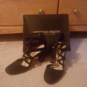 Black dress shoes ( velvet feel) NWOT